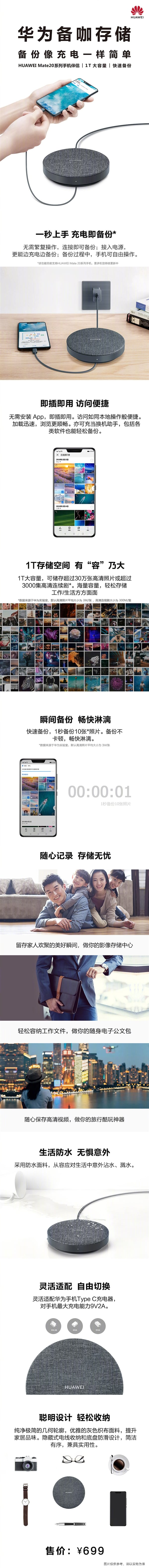 Starting 599 yuan! Huawei released spare coffee storage: 1TB lightning backup Mate 20