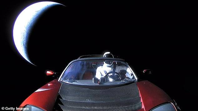 Elon Musk launches red sports car in space, completed a full orbit around the sun
