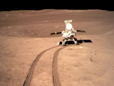 China's lunar Yutu-2 rover examines 'foreign substance' found in moon crater