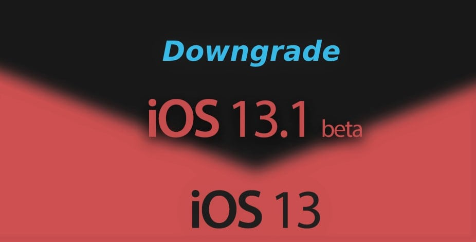 Downgrading from iOS 13.1 beta to iOS 13 cleanly