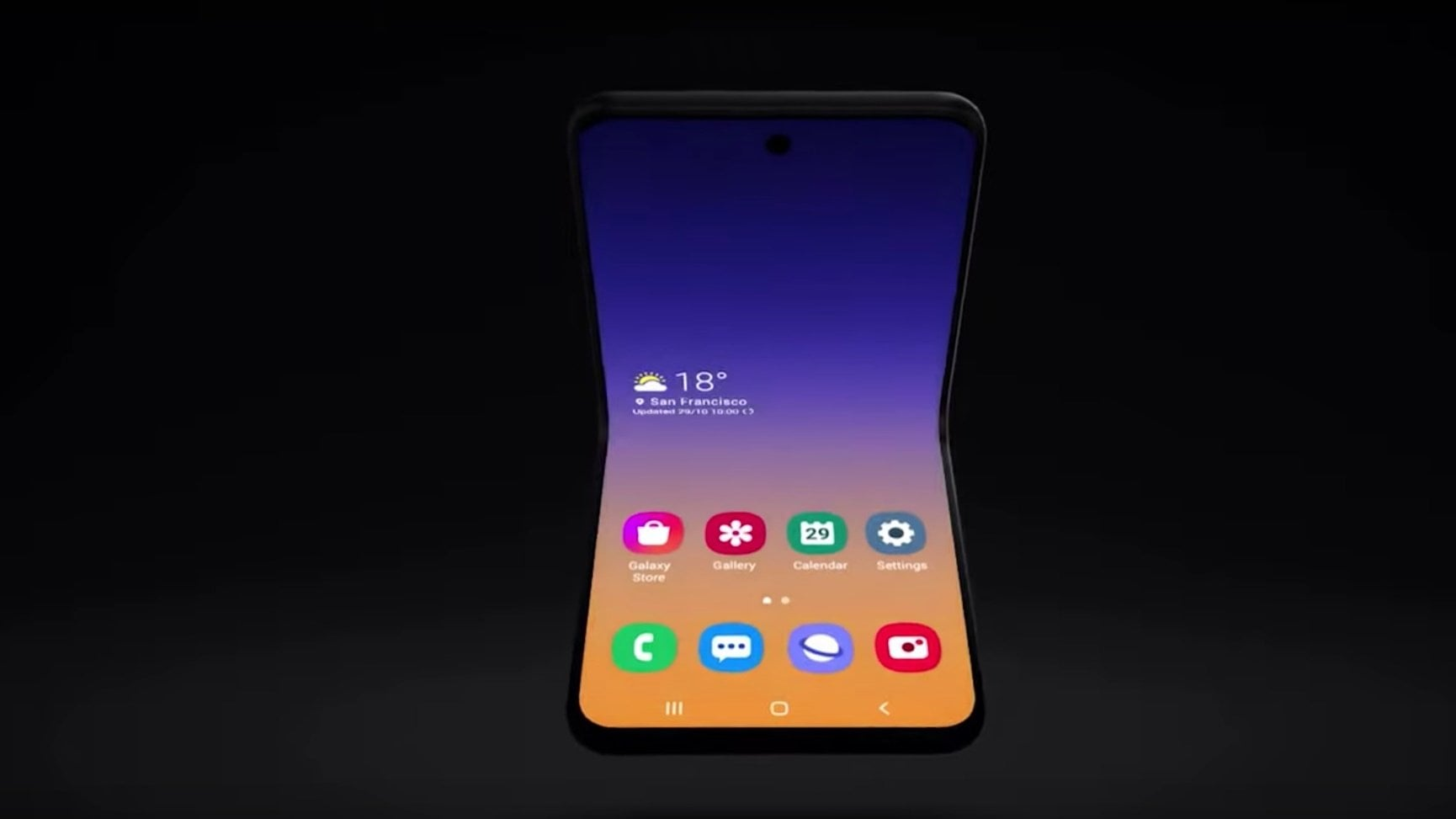 Samsung shows Galaxy Fold of the future, revealed novelties for Bixby and One UI 2.0