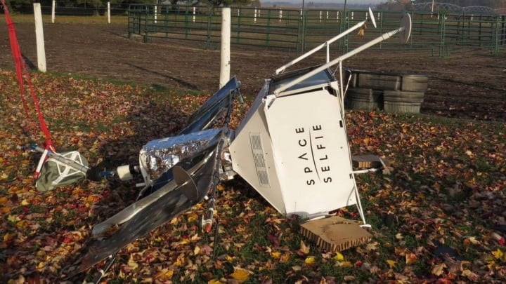 Samsung SpaceSelfie satellite crashed in the middle of a Michigan farm
