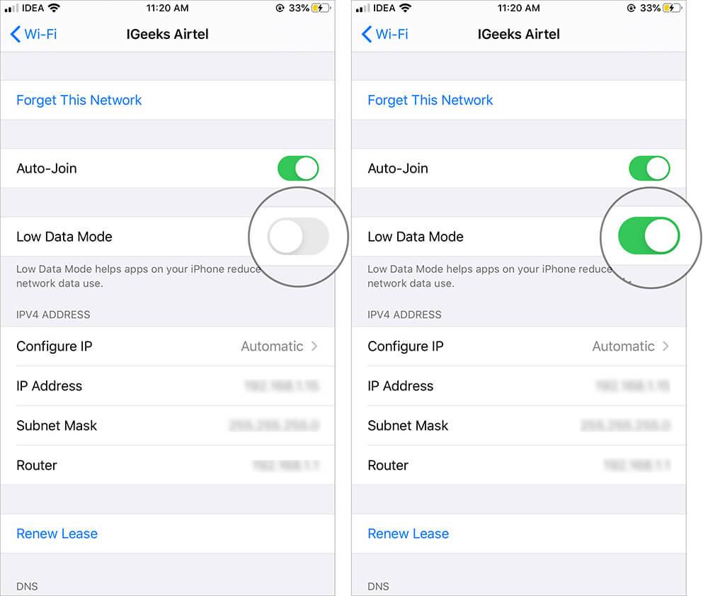 iOS 13 Low data 3