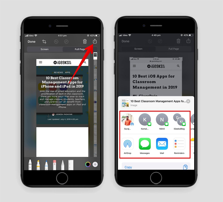 iOS 13 Safari Share PDF
