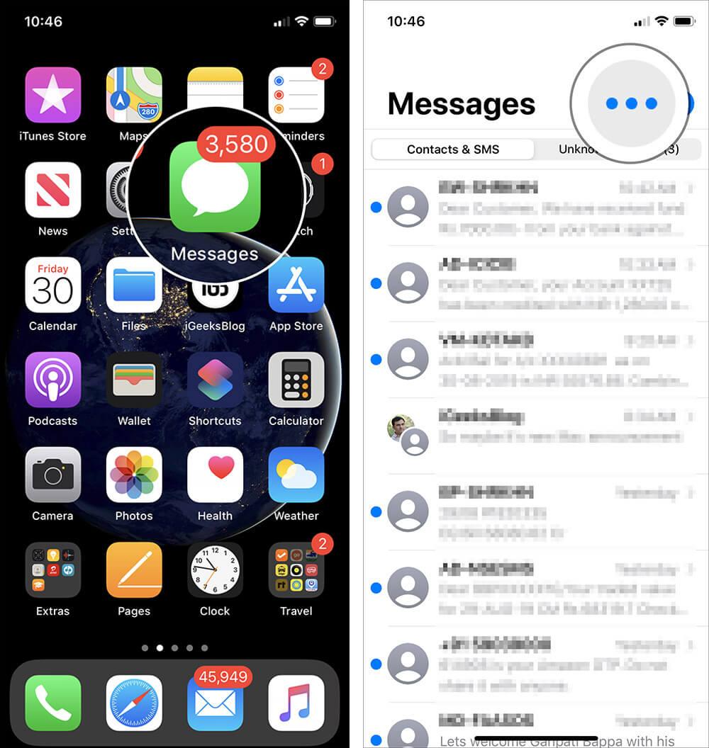 iOS imesg 1