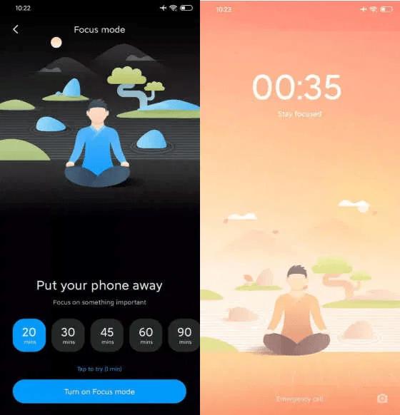 MIUI 11.1 Bedtime Focus