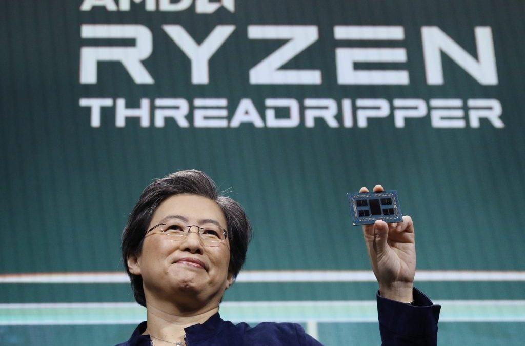 Lisa Su Presenting AMD 3990X