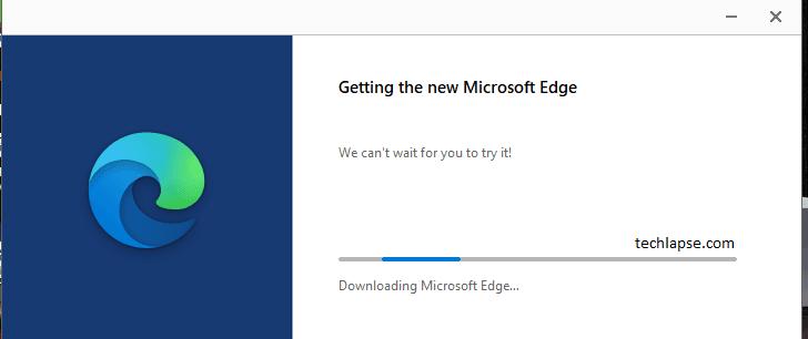 Microsoft Edge install