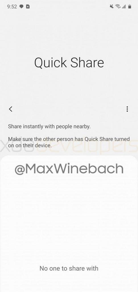 QuickShare Samsung 2