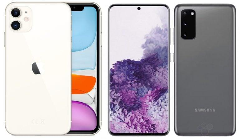 iPhone 11 VS Samsung Galaxy S20
