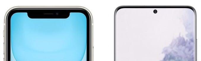 Galaxy S20 VS iPhone 11 Notch Vs Hole