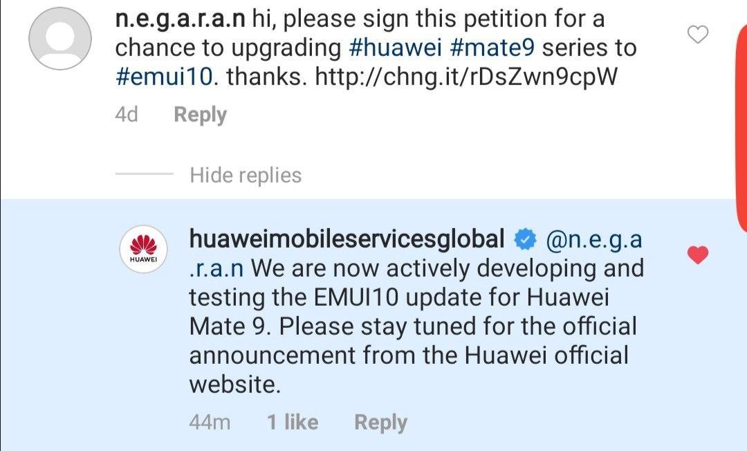 Huawei Mate 9 EMUI 10