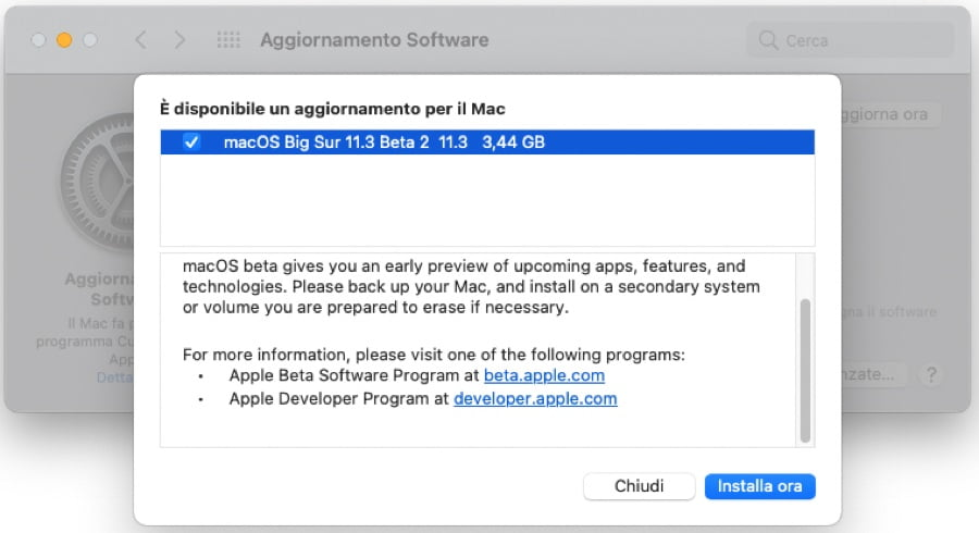 Apple releases the second public beta of macOS Big Sur 11.3