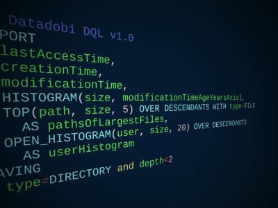 Datadobi Query Language code